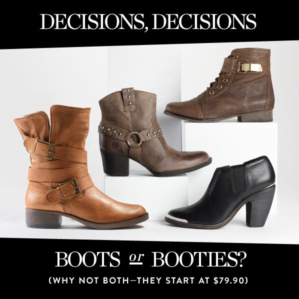 BOOTS OR BOOTIES