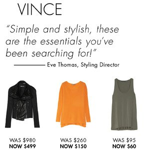 VINCE UP TO 50% OFF