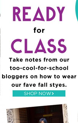 Shop Back to School Styles