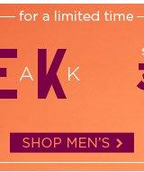 Shop Men's Sneak Peek