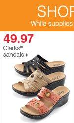 Shop over 55 Bonus Buys! 49.97 Clarks® sandals.