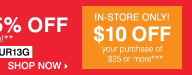 LAST DAY! Signature Sale. Up to 50% off storewide, plus take up to an extra 25% off sale price merchandise** Get even more savings in-store! Take $10 of your purchase of $25 or more*** Shop now.