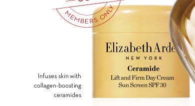Infuses skin with collagen-boosting ceramides.