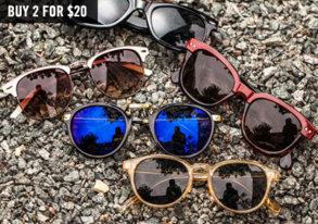 Shop Sunglasses Blowout: 2 for $20