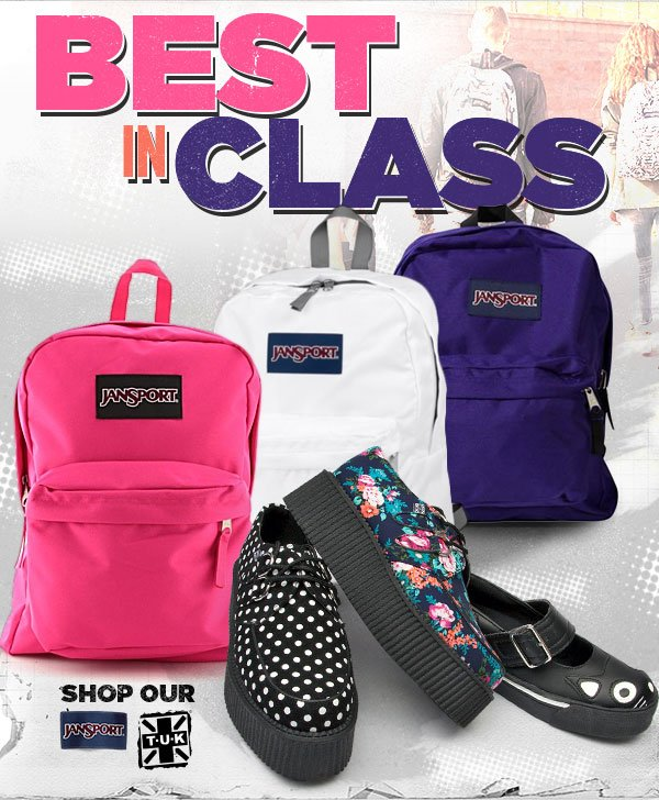 Best in Class. Shop T.U.K. and Jansport!