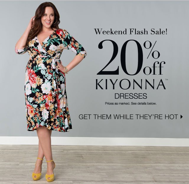 20% off Kiyonna Dresses