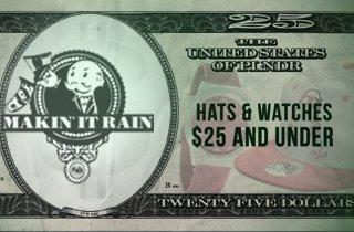 Hats & Watches $25 & Under