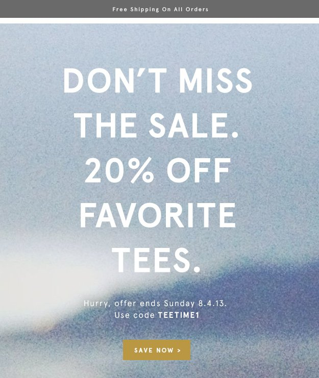 Save Now: Use Code TEETIME1