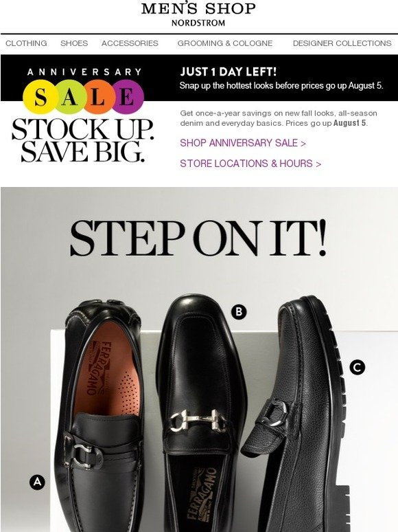 0ee9046037ab8 Nordstrom: Anniversary Sale: One Day Left to Save on Salvatore Ferragamo  Shoes & More | Milled