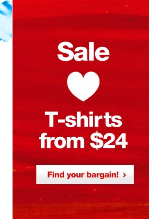 T-shirts from $24