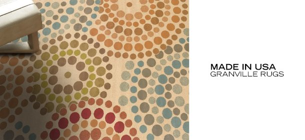 MADE IN USA: GRANVILLE RUGS, Event Ends August 7, 9:00 AM PT >