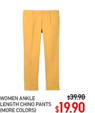 WOMEN ANKLE LENGTH CHINO PANTS
