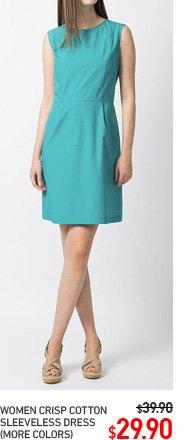 WOMEN CRISP COTTON DRESS