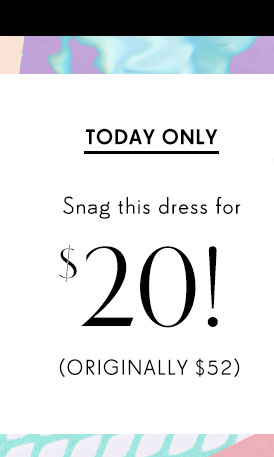 Today only: Snag this dress for $20! Originally $52
