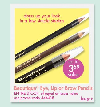 Beautique Eye, Lip or Brow Pencils