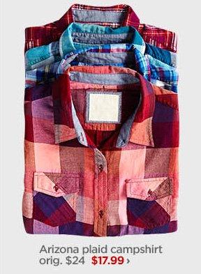 Arizona plaid campshirt orig. $24 $17.99 ›
