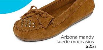 Arizona mandy suede moccasins $25 ›