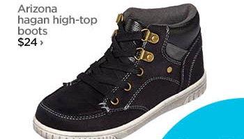 Arizona hagan high–top boots $24 ›