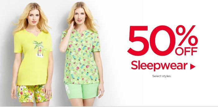 50% Off Sleepwear