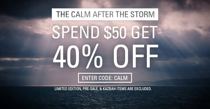Cop your gear at an extra 40% off!