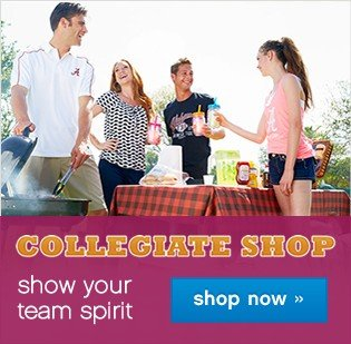 Collegiate Shop. Show your team spirit. Shop now.