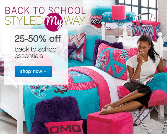 Back to School. Styled My Way. 25-50% off Back to School Essentials. Shop now.