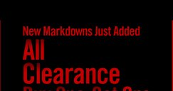 NEW MARKDOWNS JUST ADDED - ALL CLEARANCE BUY ONE, GET ONE FOR $1††
