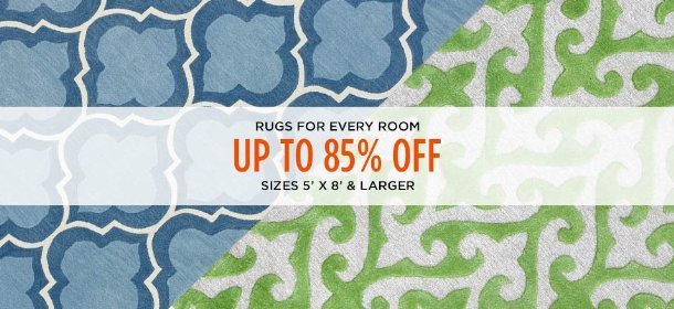 UP TO 85% OFF: SIZES 5' X 8' & LARGER, Event Ends August 10, 4:00 PM PT >