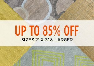 Up to 85% Off: Sizes 2' x 3' & Larger
