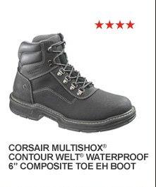 "Corsair Multishox Contour Welt Waterproof 6"" Composite Toe EH Boot"