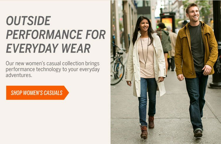Outside Performance for Everyday Wear Shop Women's Casuals