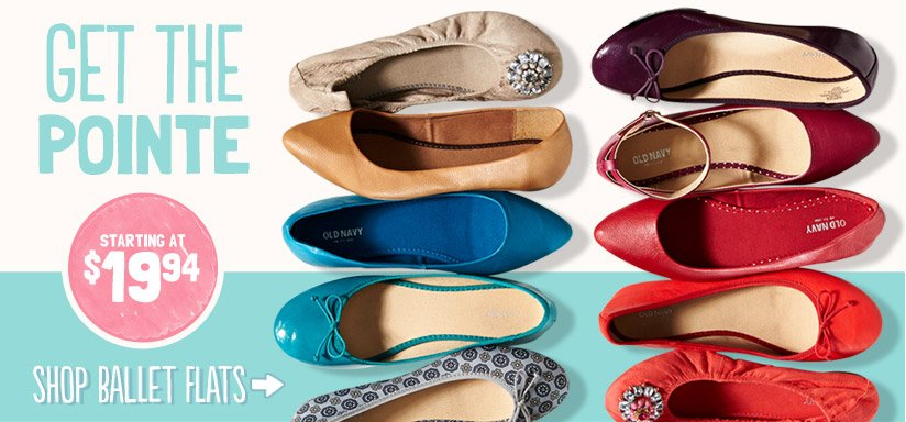 GET THE POINTE | STARTING AT $19.94 | SHOP BALLET FLATS
