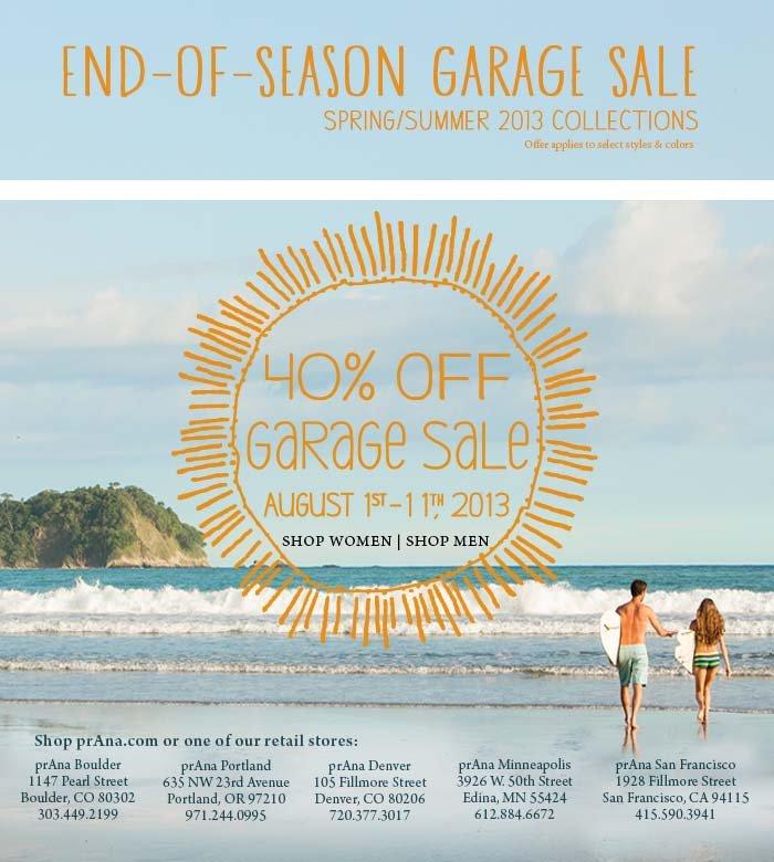 40% Off Garage Sale