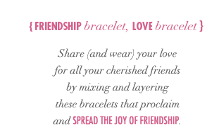 Friendship bracelet, love bracelet