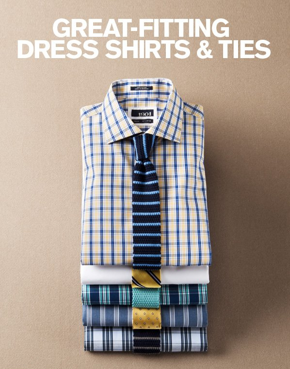GREAT FITTING DRESS SHIRTS & TIES