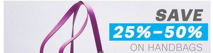 Save 25%-50% on Handbags