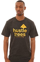 Core Collection Eight Tee in Black Heather and Mustard