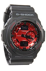 GA 150 Watch in Black Red