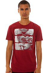 Blunt Roll Tee in Burgundy