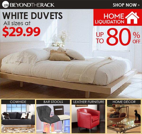 White Duvets at 29.99