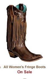 Shop Womens Fringe Boots