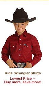 Kids' Wrangler Shirts
