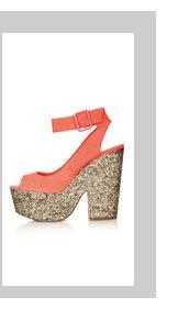 STAR Ankle Strap Platform Shoe