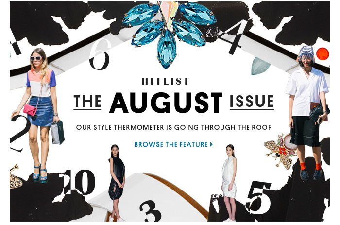 Hitlist, the August issue - Browse the feature