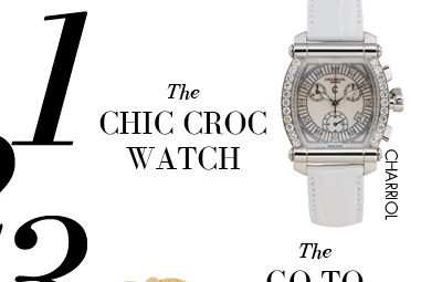 1 - The CHIC CROC WATCH - CHARRIOL