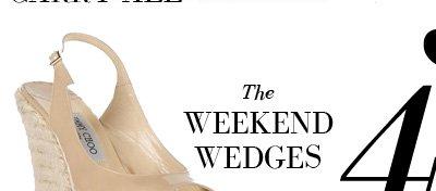 4 - The WEEKEND WEDGES - JIMMY CHOO