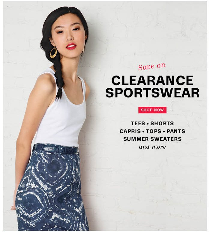 Save on Clearance Sportswear. Shop Now.