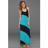 Michael Stars Stella Color Block Modal Jersey Maxi Dress