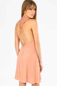 SID CROCHET BACK SKATER DRESS 43