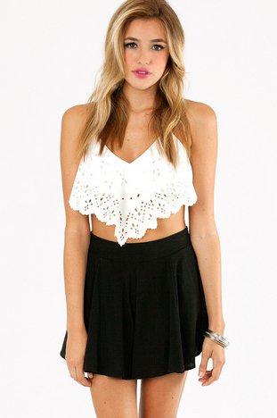 CHASE LASER CUT CROP TOP 29